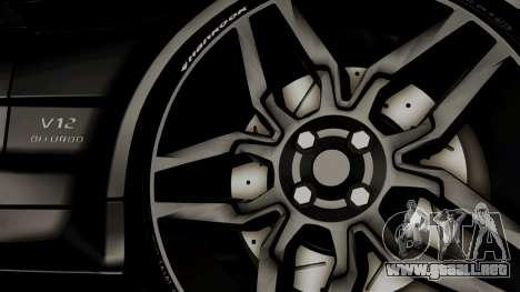 Mercedes-Benz SL65 E-Tuning para GTA San Andreas vista posterior izquierda