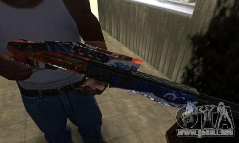 Fish Power Combat Shotgun para GTA San Andreas