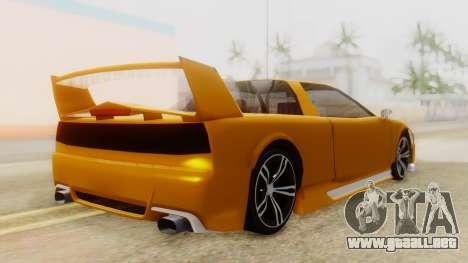 Infernus BMW Revolution with Spoiler para GTA San Andreas left