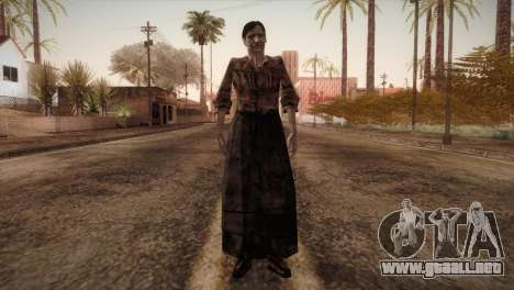 RE4 Isabel without Kerchief para GTA San Andreas segunda pantalla