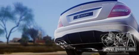 Mercedes-Benz C63 AMG 2013 para la vista superior GTA San Andreas