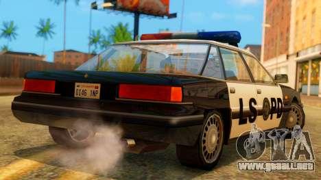 Police LS Intruder para GTA San Andreas left