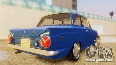 Lotus Cortina 1966 para GTA San Andreas left