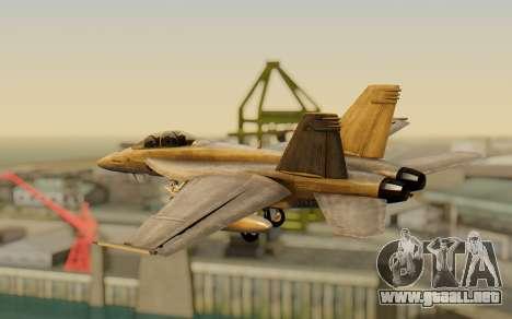 FA-18F Super Hornet BF4 para GTA San Andreas left