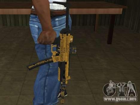 GTA 5 SMG para GTA San Andreas segunda pantalla