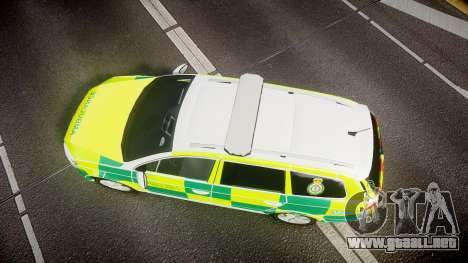 Volkswagen Passat B7 North West Ambulance [ELS] para GTA 4 visión correcta