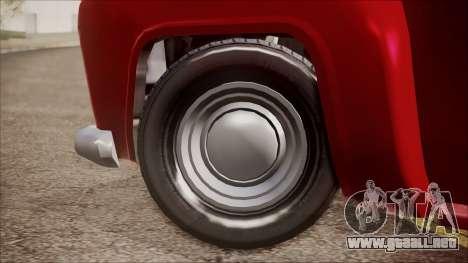 GTA 5 Vapid Slamvan IVF para GTA San Andreas vista posterior izquierda