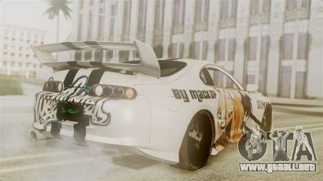 Toyota Supra Full Tuning para GTA San Andreas left