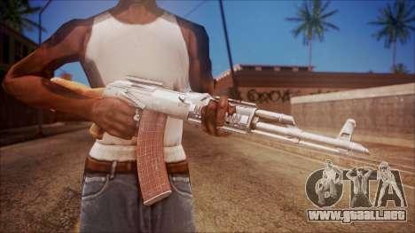 AK-47 v4 from Battlefield Hardline para GTA San Andreas tercera pantalla