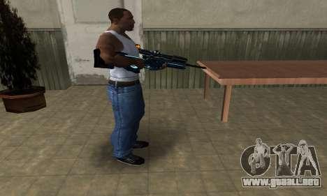 Sniper Blue Snow para GTA San Andreas segunda pantalla