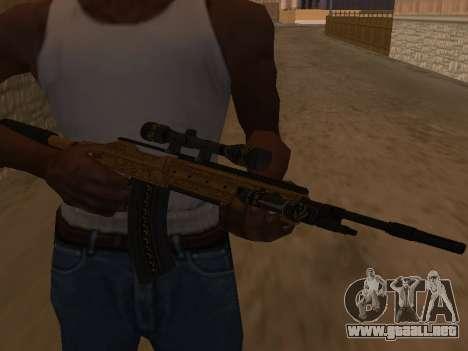 Marksman Rifle para GTA San Andreas segunda pantalla