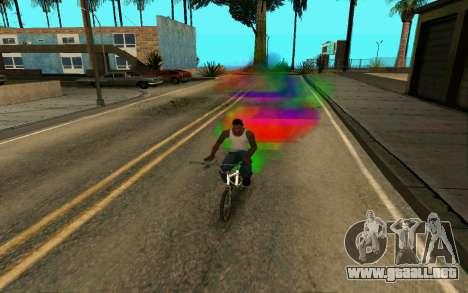 Bike Smoke para GTA San Andreas segunda pantalla
