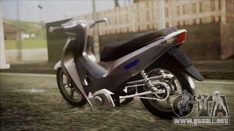Honda Biz 125 para GTA San Andreas left
