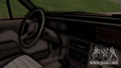 Ford LTD LX 1986 para la visión correcta GTA San Andreas