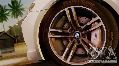 BMW 7 Series F02 2013 para GTA San Andreas vista posterior izquierda