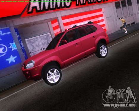 Hyundai Tucson para GTA San Andreas vista posterior izquierda