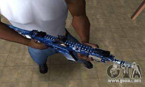 Blue Life M4 para GTA San Andreas segunda pantalla