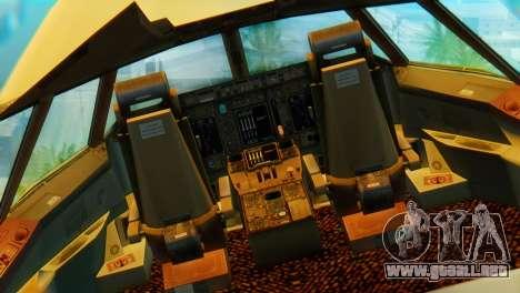 Boeing 747 Argentina Airlines para visión interna GTA San Andreas