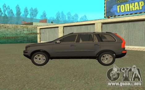 Volvo XC90 para GTA San Andreas vista posterior izquierda