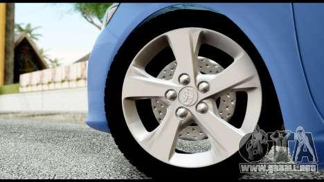 Toyota Corolla 2012 para GTA San Andreas vista posterior izquierda
