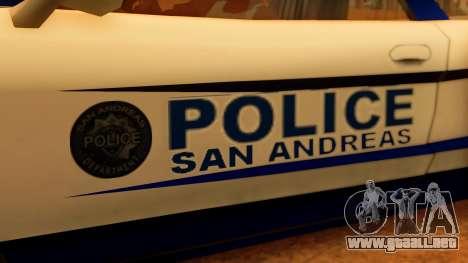 Police Infernus para la visión correcta GTA San Andreas