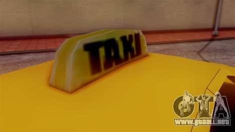 Washington Taxi para GTA San Andreas vista posterior izquierda