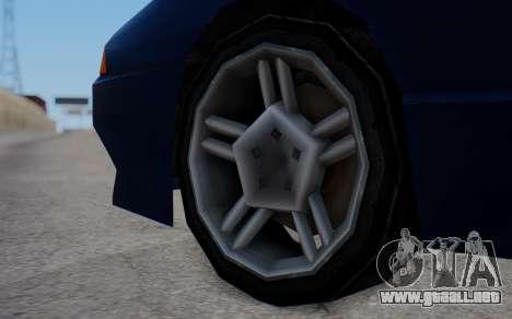 Elegy New SWZ para GTA San Andreas vista posterior izquierda
