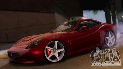 Ferrari California v2.0 para visión interna GTA San Andreas