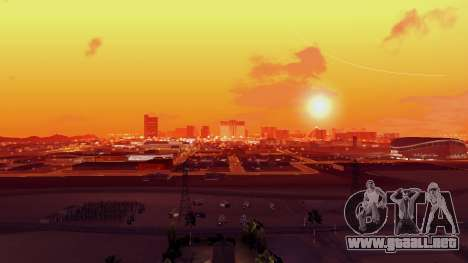 Skybox Real Stars and Clouds v2 para GTA San Andreas sucesivamente de pantalla