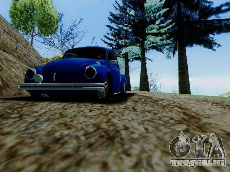 Volkswagen Beetle 1980 Stanced v1 para la vista superior GTA San Andreas