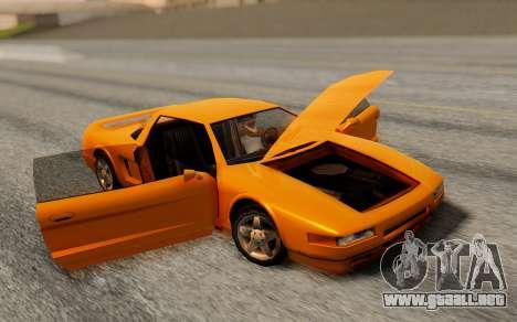 Infernus Hamann Edition Backup Standart para GTA San Andreas vista posterior izquierda