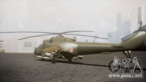 Mil Mi-24W Polish Land Forces para GTA San Andreas left