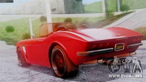 GTA 5 Invetero Coquette BlackFin IVF para GTA San Andreas left