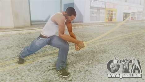 Red Dead Redemption Katana para GTA San Andreas tercera pantalla