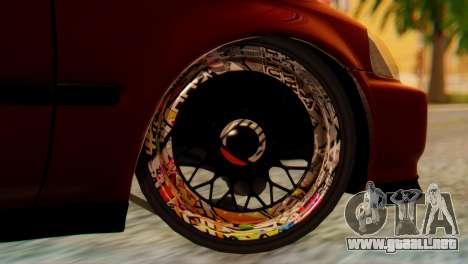 Honda Civic JnR Tuning para GTA San Andreas vista posterior izquierda