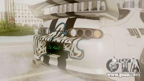 Toyota Supra Full Tuning para visión interna GTA San Andreas