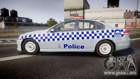Holden Commodore Omega Victoria Police [ELS] para GTA 4 left