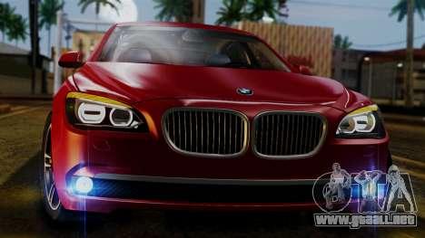 BMW 7 Series F02 2013 para visión interna GTA San Andreas