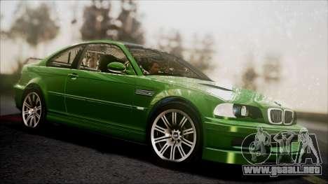 BMW M3 GTR Street Edition para visión interna GTA San Andreas