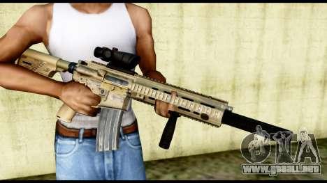 HK416 SOPMOD para GTA San Andreas tercera pantalla