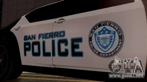 Hunter Citizen from Burnout Paradise Police SF para la visión correcta GTA San Andreas