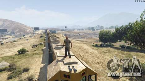 GTA 5 Improved freight train 3.8 décima captura de pantalla