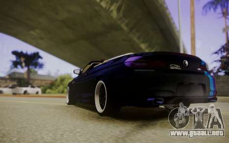 BMW M6 Cabrio para GTA San Andreas vista posterior izquierda