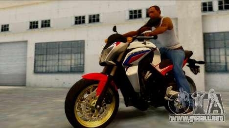 Honda CB650F Tricolor para GTA San Andreas left