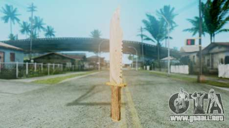 Red Dead Redemption Knife para GTA San Andreas segunda pantalla