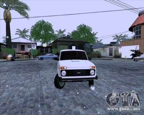 VAZ 2121 Niva 4x4 para GTA San Andreas vista posterior izquierda