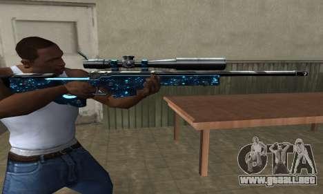 Sniper Blue Snow para GTA San Andreas tercera pantalla