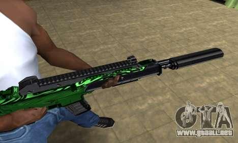Full Green M4 para GTA San Andreas segunda pantalla