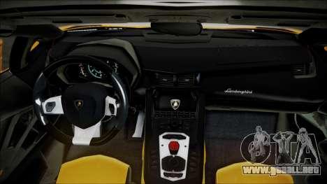 Lamborghini Veneno LP700-4 AVSM Roadster Version para GTA San Andreas vista hacia atrás