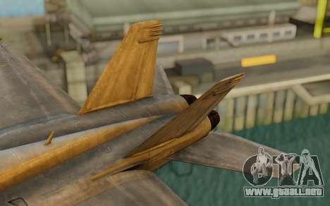 FA-18F Super Hornet BF4 para GTA San Andreas vista posterior izquierda